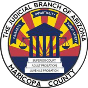 Seal of The Judicial Branch of Arizona, County of Maricopa.